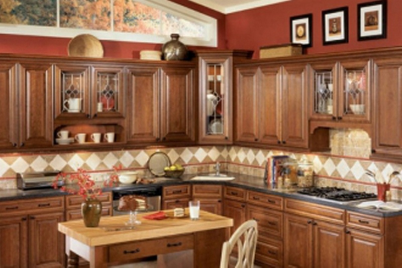Chocolate Glaze Kitchen Cabinet Pictures
