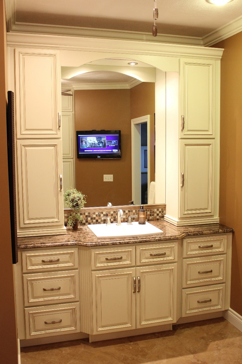 Bathroom Vanity With Matching Linen Cabinet