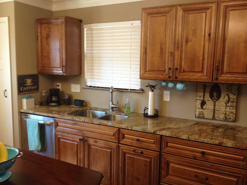 Purple kitchen maple cabinets for Maple kitchen cabinets