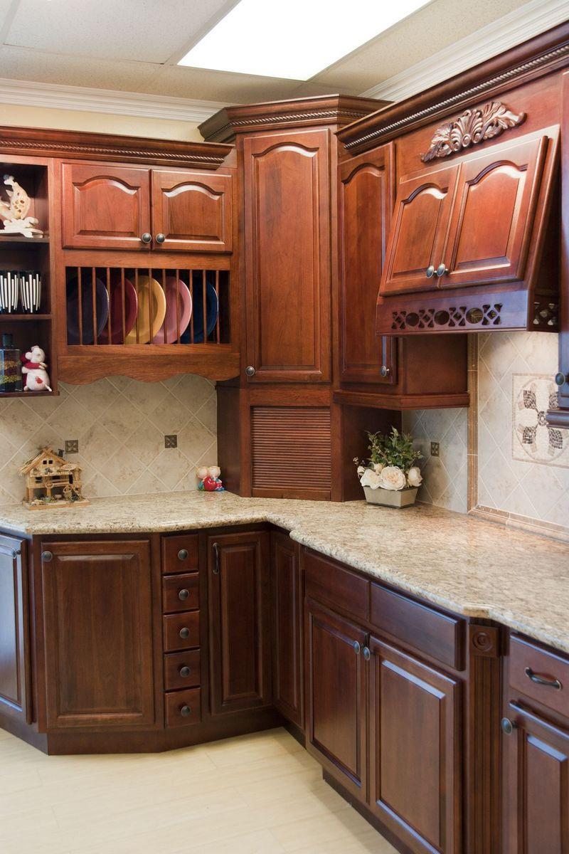 Cherry Walnut Kitchen Cabinet Photos